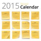 Календарь Stiky Стоковое Изображение RF