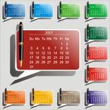 Календар вектора Стоковое Фото