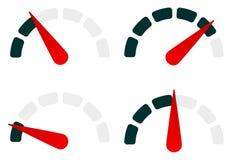 Калибруйте комплект символа уровн-индикатора от низкого уровня к максимуму бесплатная иллюстрация