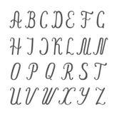 Каллиграфическая иллюстрация алфавита Стоковые Изображения