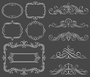 каллиграфические декоративные рамки Стоковые Фото