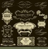 Каллиграфические элементы дизайна Стоковое Изображение