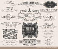 Каллиграфические элементы дизайна Стоковые Фотографии RF
