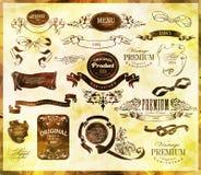 Каллиграфические элементы дизайна Стоковые Фото