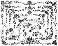 Каллиграфические элементы конструкции Стоковая Фотография