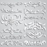 каллиграфический вектор изображения элементов конструкции Стоковое Изображение
