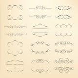каллиграфический вектор изображения элементов конструкции иллюстрация штока
