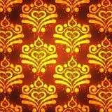 каллиграфический орнамент золота элементов конструкции Стоковые Фото