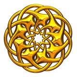каллиграфический орнамент золота элементов конструкции иллюстрация вектора