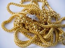 каллиграфический орнамент золота элементов конструкции Стоковая Фотография RF