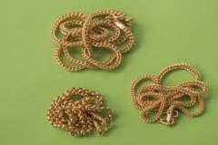 каллиграфический орнамент золота элементов конструкции Стоковое фото RF