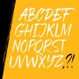 Каллиграфический шрифт Стоковая Фотография RF