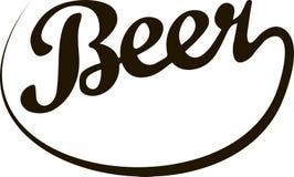 Каллиграфическое пиво надписи Стоковое Фото
