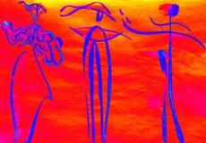 Каллиграфия в изображениях маленьких людей Стоковые Фотографии RF