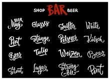 Каллиграфия литерности пива Стоковые Фото