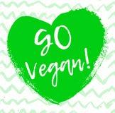 Каллиграфия идет Vegan Знак вектора нарисованный рукой иллюстрация элементов конструкции выходит вектор Мотивационная цитата Стоковая Фотография