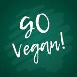 Каллиграфия идет Vegan Знак вектора нарисованный рукой иллюстрация элементов конструкции выходит вектор Мотивационная цитата Стоковое Фото