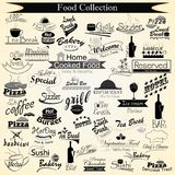 Каллиграфия меню еды Стоковое Изображение RF