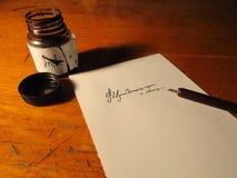 каллиграфия стоковое фото