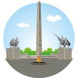 Калининград 1200 гвардейцев мемориальных Иллюстрация вектора