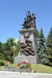 Калининград Памятник к русским солдатам которые падали внутри Стоковая Фотография