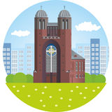 Калининград Перекрестная церковь Иллюстрация вектора