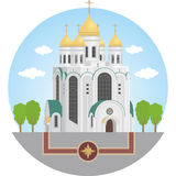 Калининград спаситель christ собора Иллюстрация вектора
