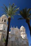 Кадис, Андалусия, Испания Собор города Стоковое Фото