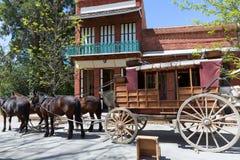 Калифорния Колумбия реальный старый западный городок золотой лихорадки Стоковая Фотография