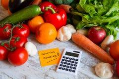 калории подсчитывать Стоковое Изображение RF