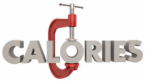 Калории уменьшают съесть теряют струбцину недостатка диеты веса Стоковое Изображение RF