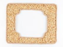 2 кадра веревочки с зерном овсов на белой предпосылке Стоковое Изображение RF