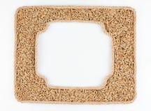 2 кадра веревочки с зерном рож на белой предпосылке Стоковые Фото