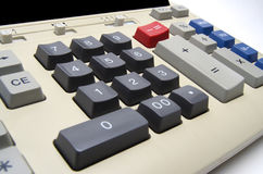 Калькулятор бухгалтерии старого стиля Стоковое Фото