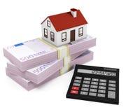 Калькулятор ипотеки - евро Стоковое фото RF