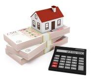 Калькулятор ипотеки - фунты Стоковые Изображения RF