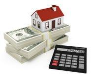 Калькулятор ипотеки Стоковая Фотография RF