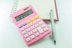 Калькулятор и ручка Стоковое фото RF