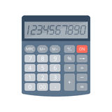 Калькулятор офиса и школы электронный Стоковое Фото