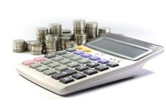 Калькулятор с монеткой Стоковое Изображение