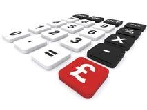 Калькулятор фунта Стоковое Изображение