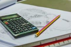 Калькулятор для оценки стоимости стоковые фото