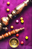 Кальян и жевательная резинка Стоковые Изображения RF