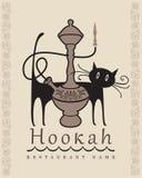 Кальян и кот Стоковое Изображение