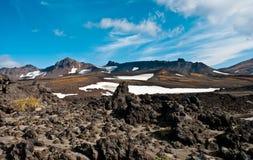 Кальдера вулкана Стоковая Фотография