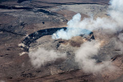 Кальдера Kilauea от воздуха Стоковая Фотография RF