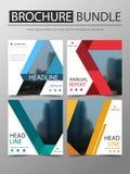 Квадратная крышка пачки брошюры, шаблон обложки книги годового отчета, предложение дела для компании стоковые изображения
