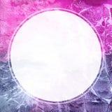 Квадратная рамка акварели с белым кругом Стоковая Фотография