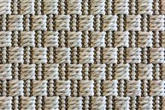 Квадратное фоновое изображение картины ткани как замечено в циновке Стоковая Фотография RF