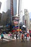 квадратные времена город New York Стоковые Изображения
